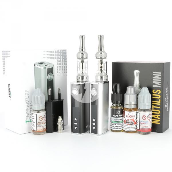 Kit Istick TC 40W Mini Nautilus + 4 e-liquides