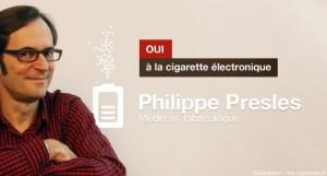 Dr Philippe Presles pour la cigarette électronique comme moyen de sevrage tabagique