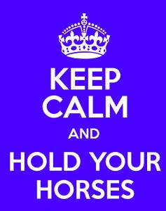 holdyour horses
