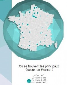 Répartition des magasins de e-cigarettes en France