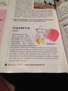 Cigaretteelec sur le magasine elle