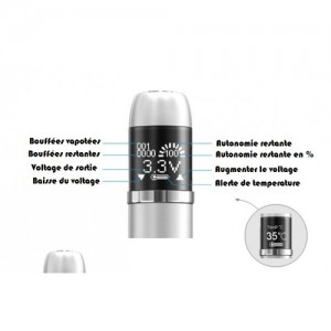 Descriptif technique de la ecigarette eVic, le mod simple et efficace