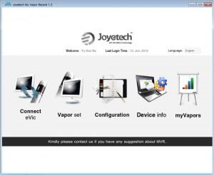 L'interface de suivi de chez Joyetech, un atout pour votre sevrage tabagique