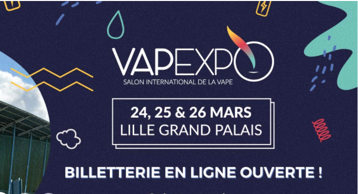 Le salon de la vape vapexpo lille ce week end for Salon cigarette electronique
