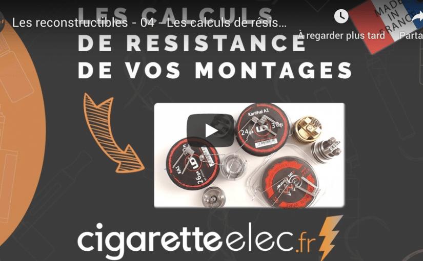 Vidéo Résistance: les calculs de résistance des montages