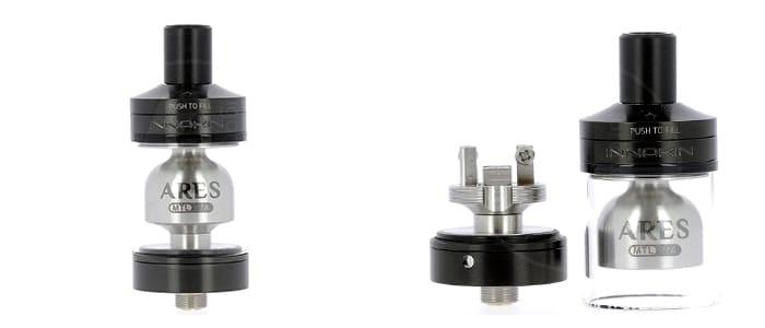 L'atomiseur pour cigarette électronique Ares RTA de Innokin, idéal pour passer au reconstructible.