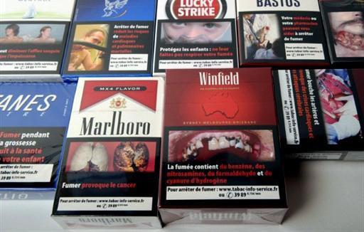 Photographie des différents paquets de tabac classique