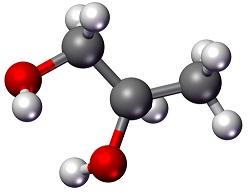 Molécule de Propylène glycole