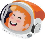 Animation mettant en scène un astronaute chevauchant une fusée en forme de cigarette électronique